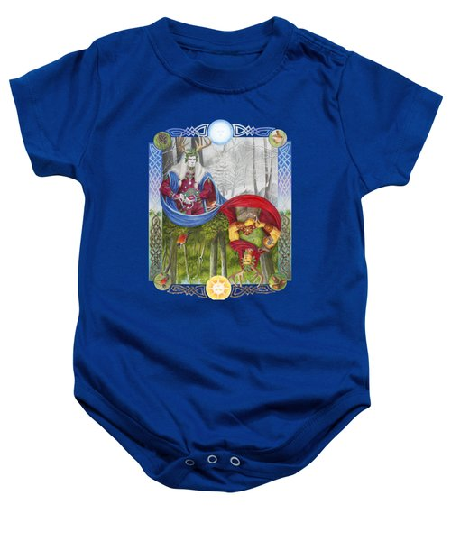 The Holly King And The Oak King Baby Onesie