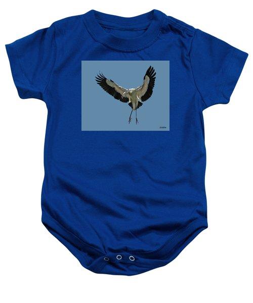 Wood Stork Baby Onesie