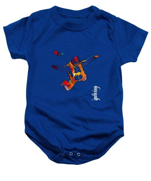 Skydiving Collection Baby Onesie by Marvin Blaine