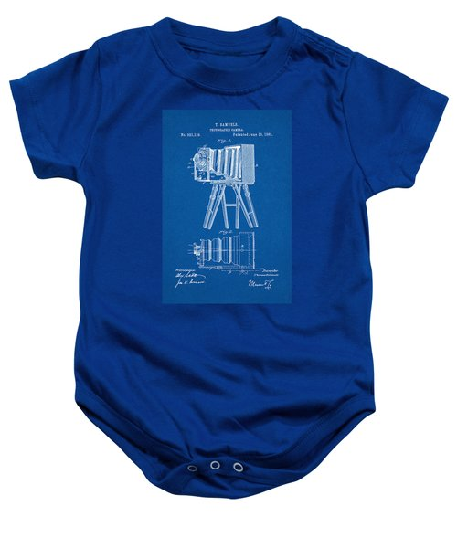 1885 Camera Us Patent Invention Drawing - Blueprint Baby Onesie