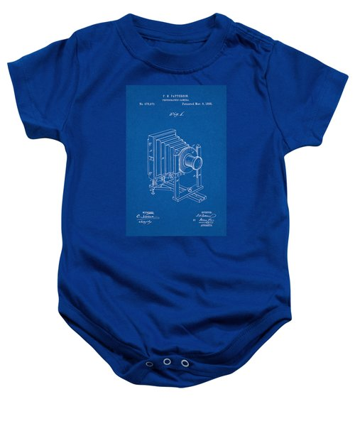 1888 Camera Us Patent Invention Drawing - Blueprint Baby Onesie