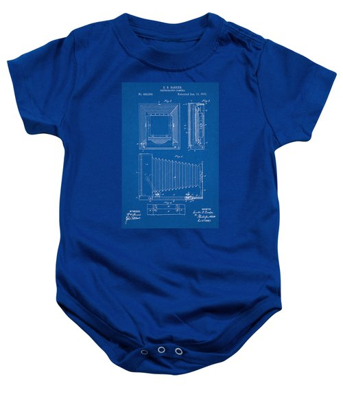 1891 Camera Us Patent Invention Drawing - Blueprint Baby Onesie
