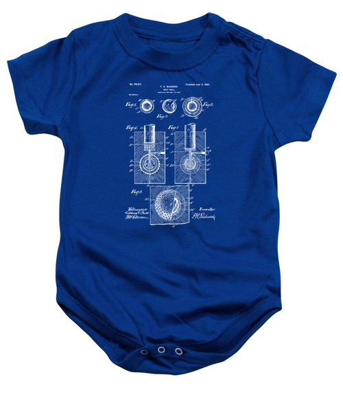 1902 Golf Ball Patent Artwork - Blueprint Baby Onesie by Nikki Marie Smith