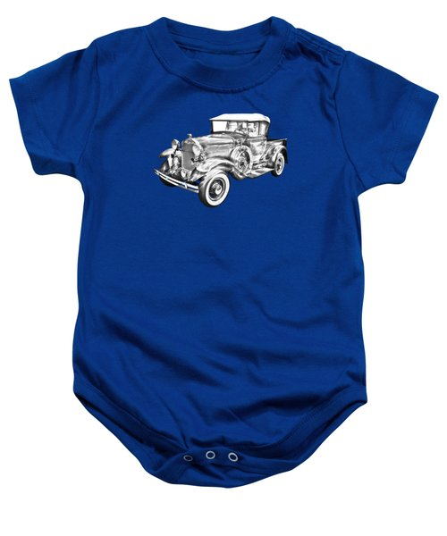 1930 Ford Model A Pickup Truck Illustration Baby Onesie by Keith Webber Jr