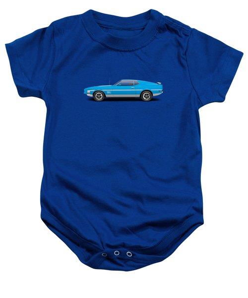 1971 Ford Mustang Mach 1 - Grabber Blue Baby Onesie