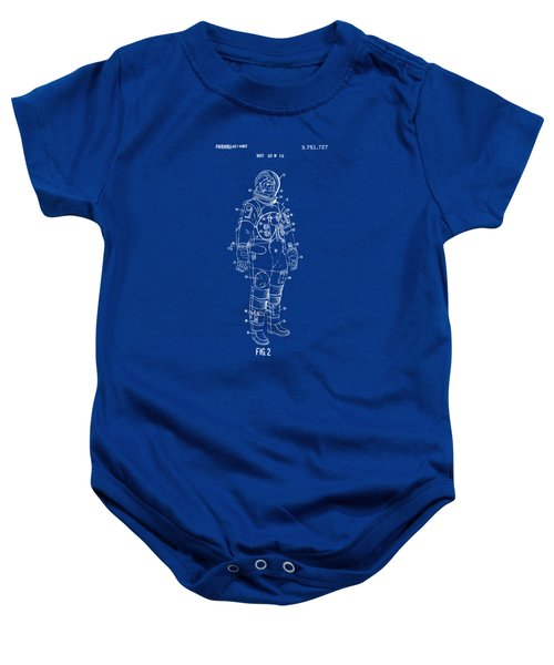 1973 Astronaut Space Suit Patent Artwork - Red Baby Onesie