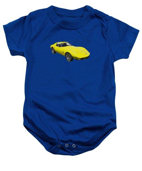 1975 Corvette Stingray Sportscar Baby Onesie