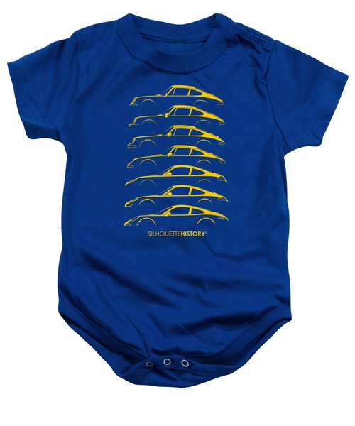 Boxer Sports Car Silhouettehistory Baby Onesie