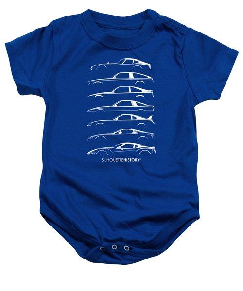 Japanese Sports Car Silhouettehistory Baby Onesie