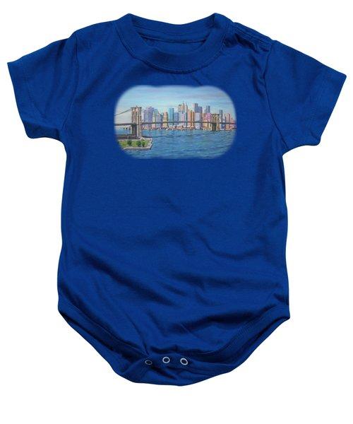 New York Brooklyn Bridge Baby Onesie