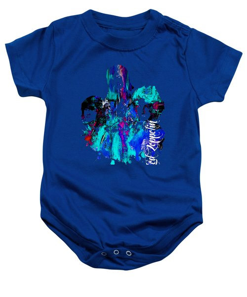 Led Zeppelin Collection Baby Onesie by Marvin Blaine