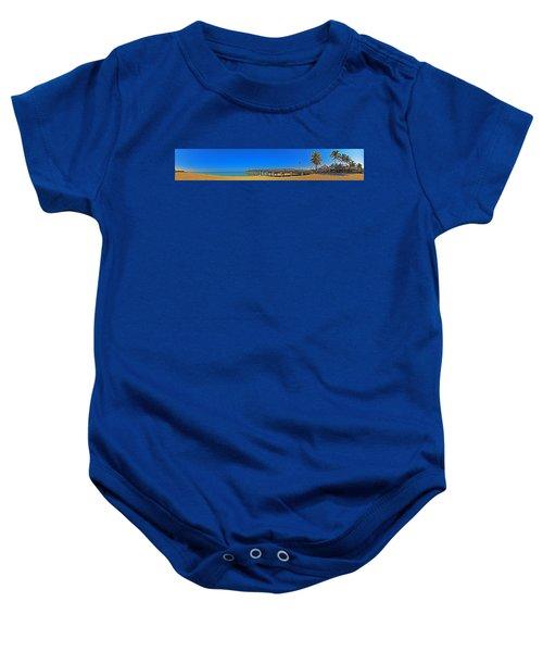 6x1 Venice Florida Beach Pier Baby Onesie