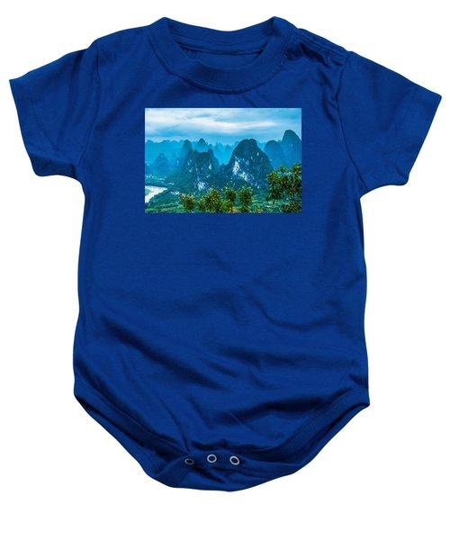 Karst Mountains Landscape Baby Onesie