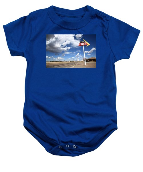 Baby Onesie featuring the photograph Route 66 Cafe by Frank Romeo