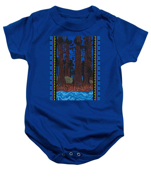 Baby Onesie featuring the painting A Forest Whispers by Chholing Taha