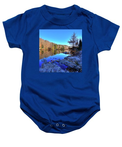 Baby Onesie featuring the photograph A November Morning On The Pond by David Patterson