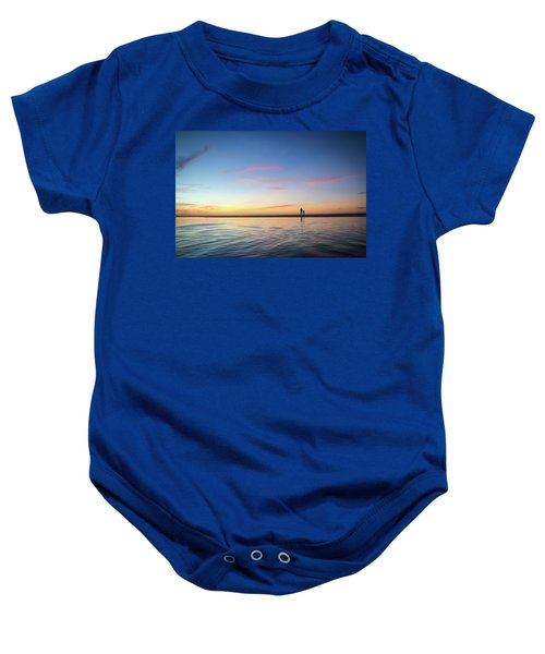 A Twilight Beach Walk Baby Onesie