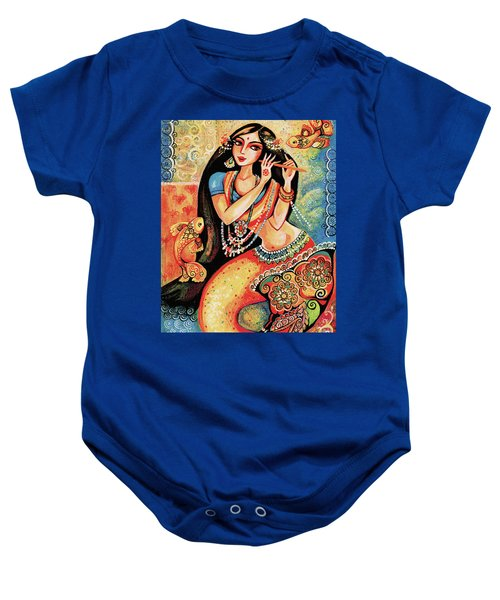 Aanandinii And The Fishes Baby Onesie by Eva Campbell