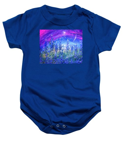 Abstract Bluebonnets Baby Onesie
