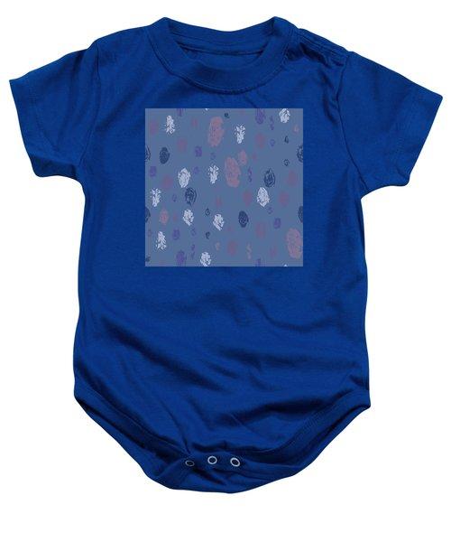 Abstract Rain On Blue Baby Onesie