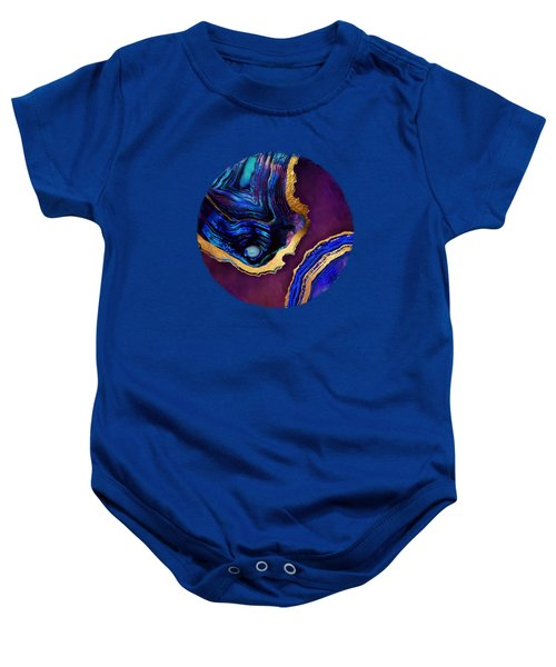 Agate Abstract Baby Onesie