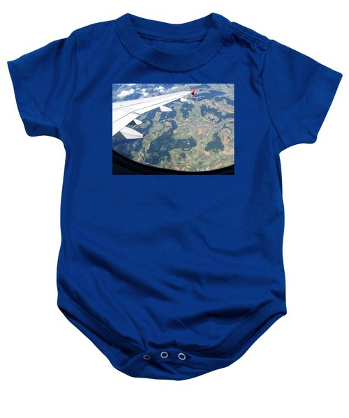 Air Berlin Over Switzerland Baby Onesie