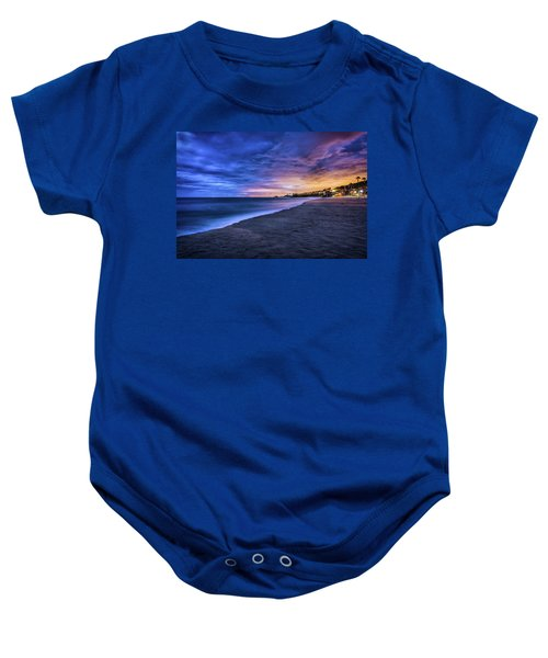 Aliso Beach Lights Baby Onesie