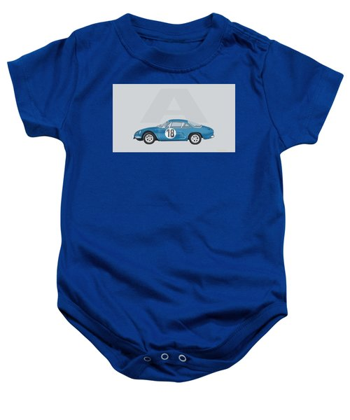 Baby Onesie featuring the mixed media Alpine A110 by TortureLord Art