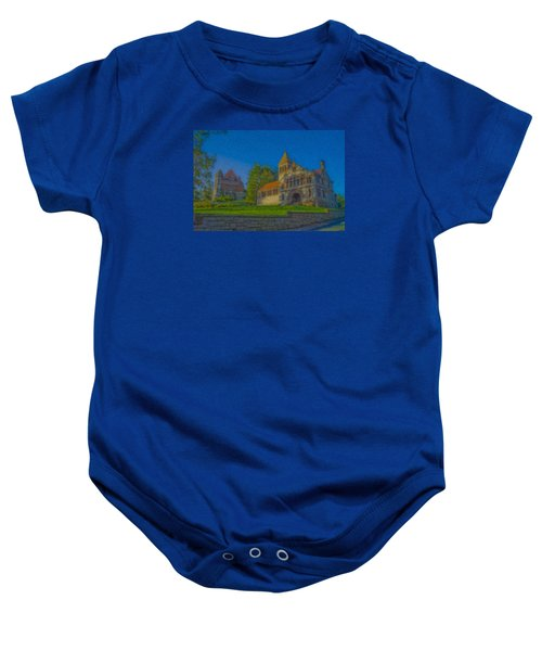Ames Hall And Ames Free Library Baby Onesie
