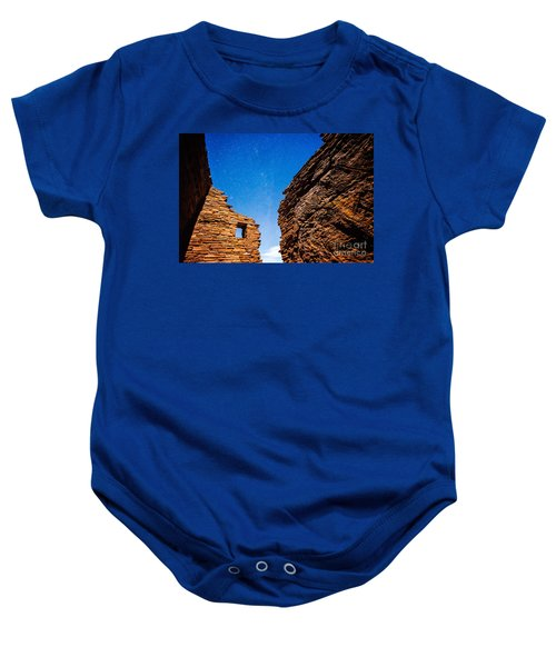 Ancient Native American Pueblo Ruins And Stars At Night Baby Onesie