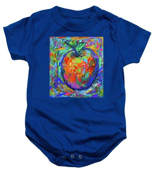 Baby Onesie featuring the painting Apple Splash by Kendall Kessler