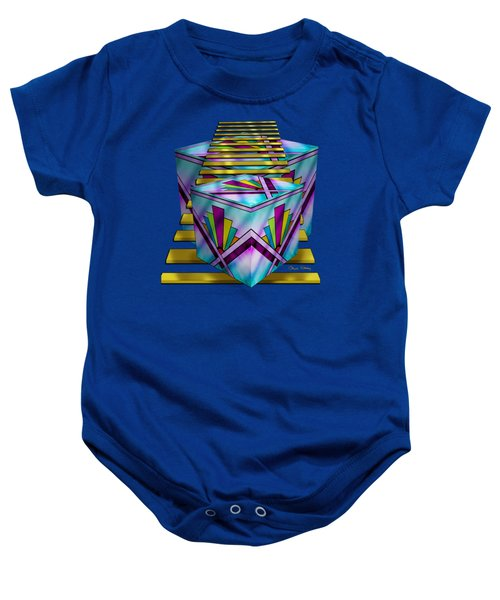 Art Deco Cubes 1 - Transparent Baby Onesie