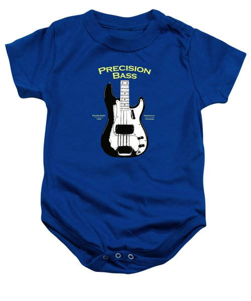 Fender Precision Bass 58 Baby Onesie by Mark Rogan