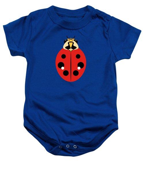 Ladybug Graphic Red Baby Onesie