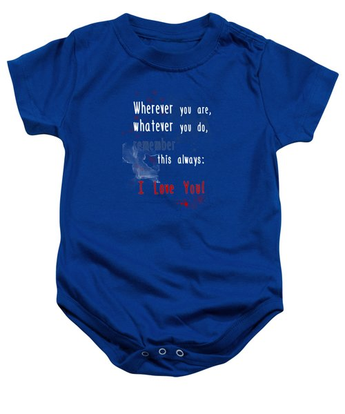 Wherever You Are Baby Onesie
