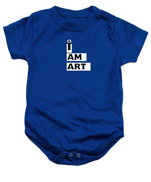 I Am Art Stripes- Design By Linda Woods Baby Onesie