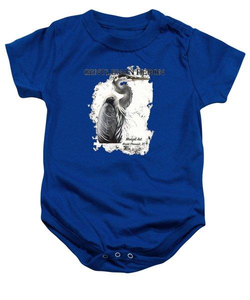 Gentleman Heron Baby Onesie