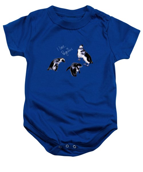 Cute Penguins Baby Onesie