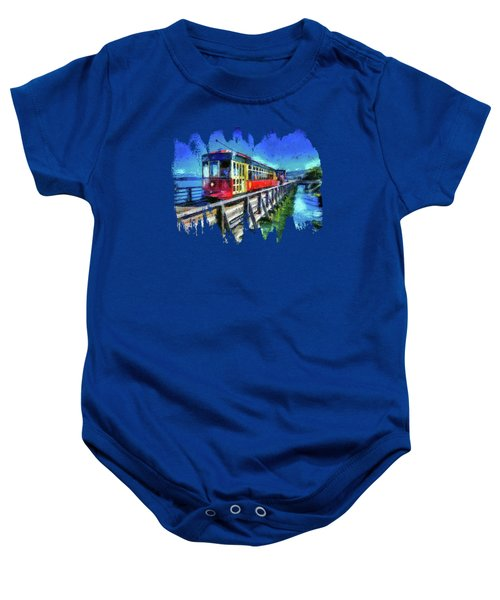 Astoria Riverfront Trolley Baby Onesie by Thom Zehrfeld