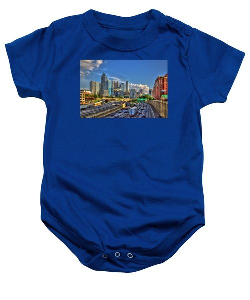 Atlanta The Capital Of The South Cityscape Sunset Reflections Art Baby Onesie