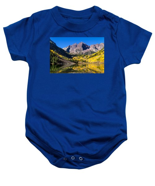Autumn Morning At The Maroon Bells Baby Onesie