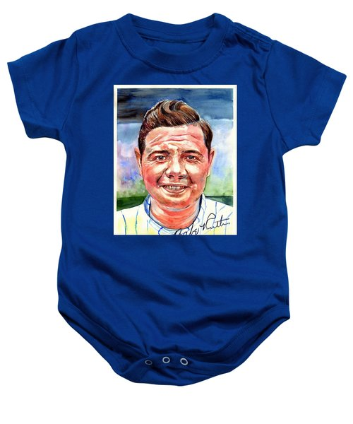 Babe Ruth Portrait Baby Onesie