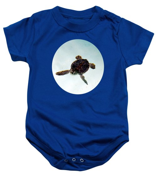 Baby Onesie featuring the photograph Baby Turtle by Francesca Mackenney