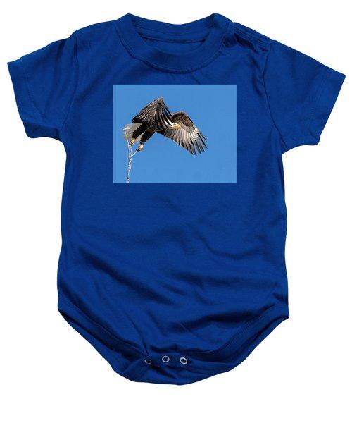 Bald Eagle Flight 3 Baby Onesie