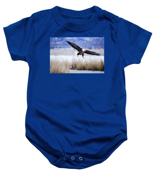 Bald Eagle Landing Baby Onesie