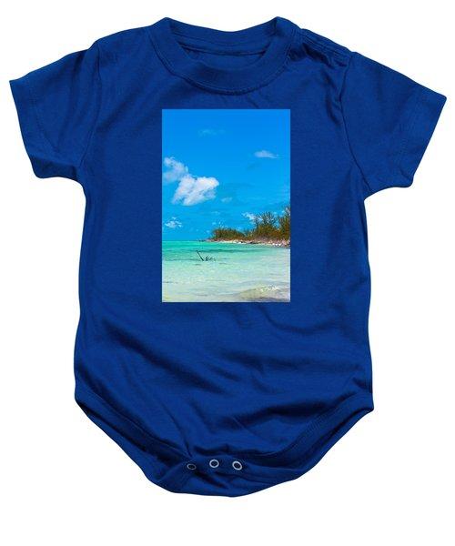 Beach At North Bimini Baby Onesie