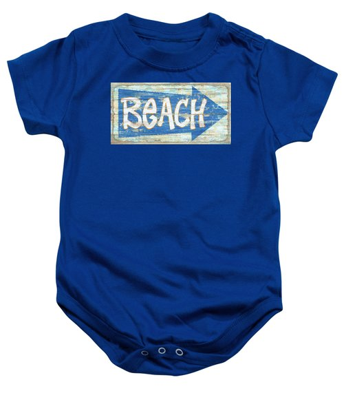 Beach Sign Baby Onesie