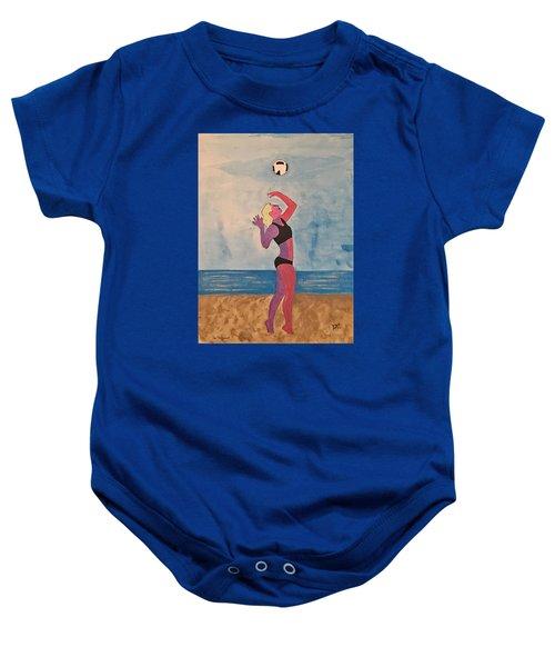 Beach Volleyball Baby Onesie