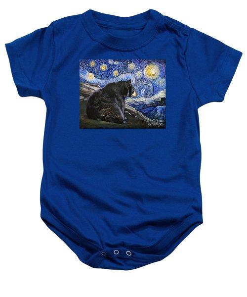 Beary Starry Nights Baby Onesie