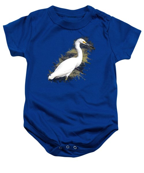 Beautiful Snowy Egret Baby Onesie